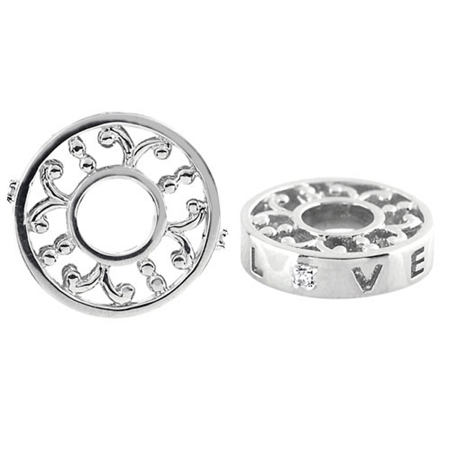 329835-Storywheels LOVE with Diamond Sterling Silver Wheel ONLY 4 AVAILABLE!