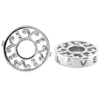Storywheels LOVE with Diamond Sterling Silver Wheel ONLY 1 AVAILABLE!-329835