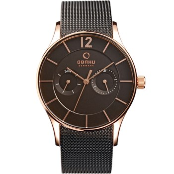 505-5-Men's Black Mesh Watch