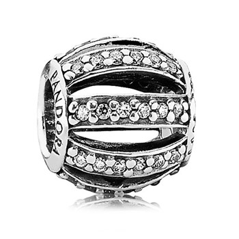 342897-PANDORA Leading Lady with Clear Pavé Openwork Charm RETIRED