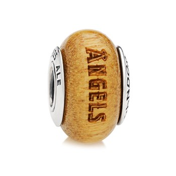 345557-PANDORA Los Angeles Angels Baseball Wood Charm RETIRED