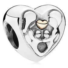 802-3134-PANDORA Heart of the Family Charm