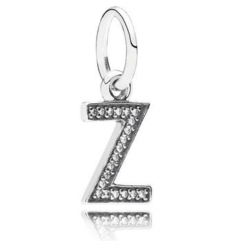 PANDORA Letter Z with Clear CZ Pendant-346460