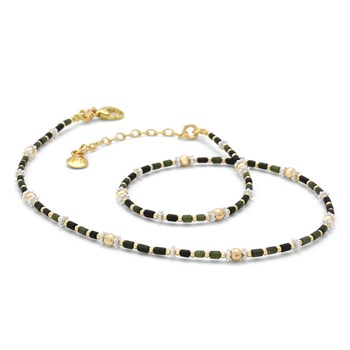 Serpentine & Jade Necklace-235-586