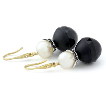 210-697-Agate & Pearl Earrings