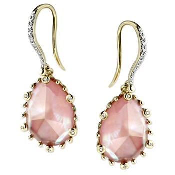 Pink Mother of Pearl Earrings-345466