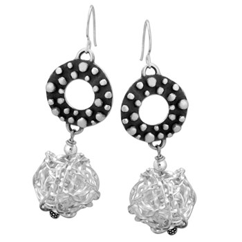 Mesh Ball Earrings-335333
