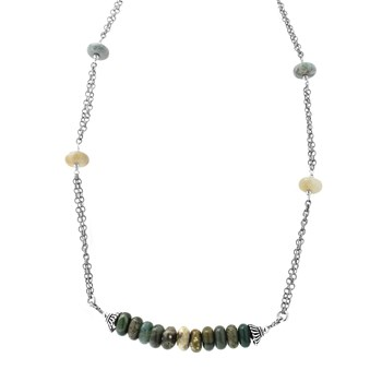235-512-Ocean Jasper Beaded Necklace