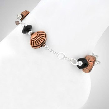 Copper & Onyx Anklet-271905