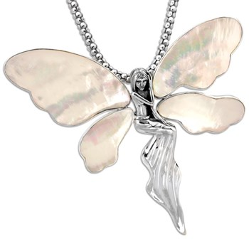 Mother of Pearl Fairy Pendant-337057