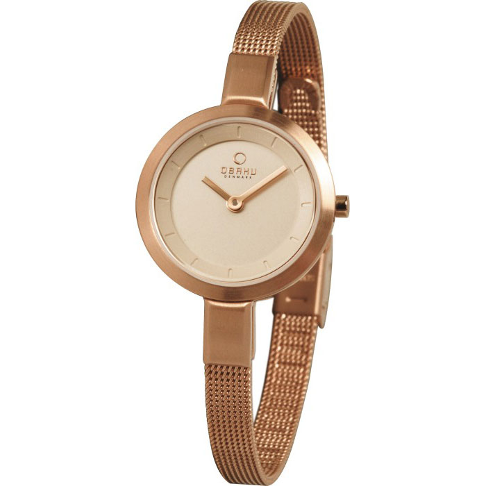 500-20-Obaku Women's Rose Gold Stainless Steel Watch