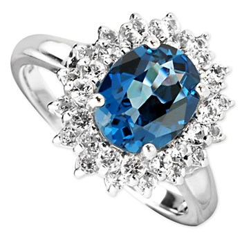 London Blue Topaz Ring-347116