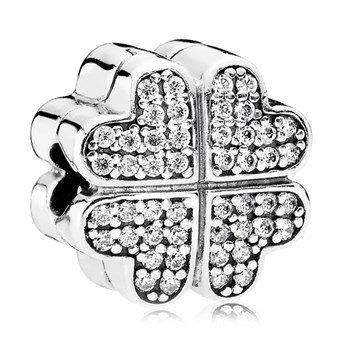 PANDORA Petals of Love with Clear CZ Clip