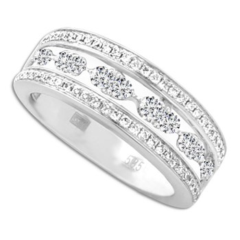 348316-Whitei Gold Diamond Link Ring