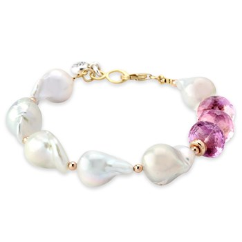 343104-Ametrine and White Pearl Bracelet