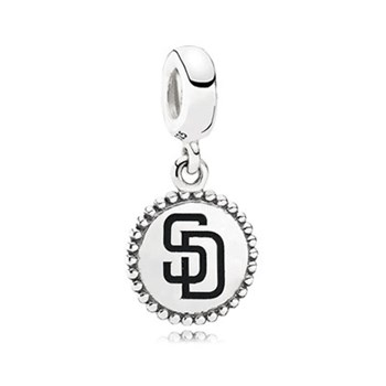 345452-PANDORA San Diego Padres Baseball Charm RETIRED LIMITED QUANTITIES!