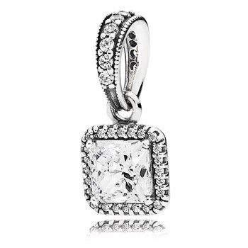 PANDORA Timeless Elegance with Clear CZ Pendant-802-3063