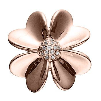 STORY by Kranz & Ziegler Rose Gold Plated Flower Button-346945