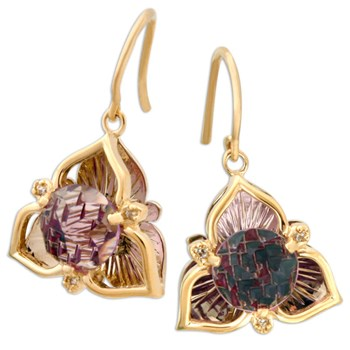 Galatea DavinChi Cut Amethyst Earrings-334077