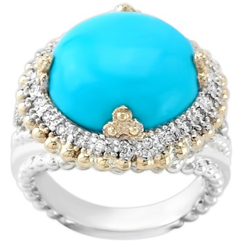 341290-Turquoise & Diamond Ring