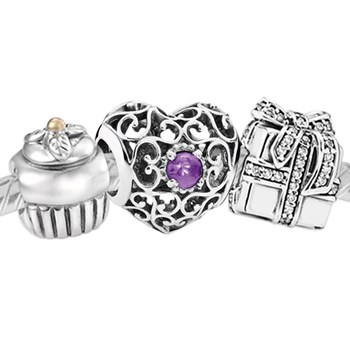 3379-PANDORA Happy February Birthday Set