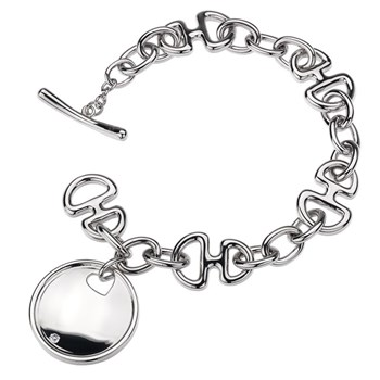 Hot Diamonds Love Letters Signature Disc Bracelet-RETIRED ONLY 2 LEFT!-334111