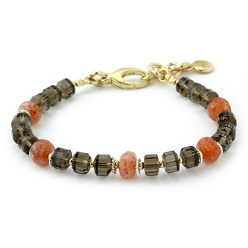 Sunstone & Smokey Quartz Bracelet-240-3312