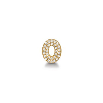 STORY by Kranz & Ziegler Gold-Plated Diamond Eye Button