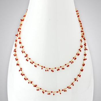 Coral 14KTGF Necklace