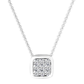 White Gold Irene Necklace-348322