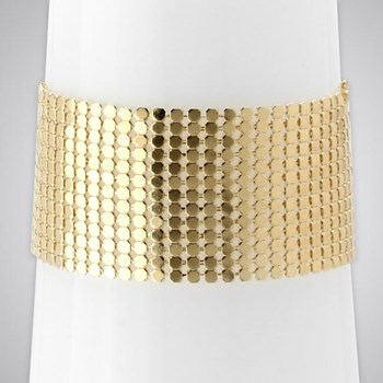 343272-Soft Weave Cuff Bracelet ONLY 2 LEFT!
