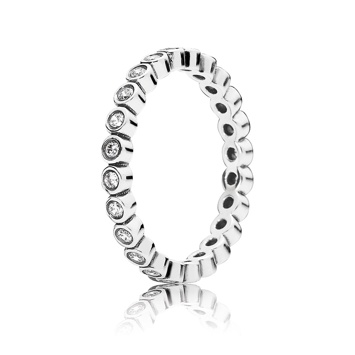PANDORA Alluring Petite Brilliant with Clear CZ Ring
