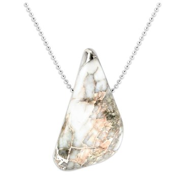 Silver in Quartz Pendant-343378