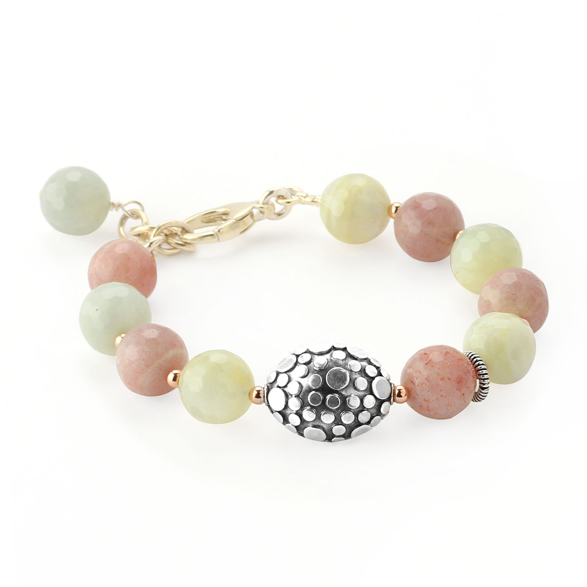 348696-Lollies Textured Sterling Silver and Quartz Bracelet