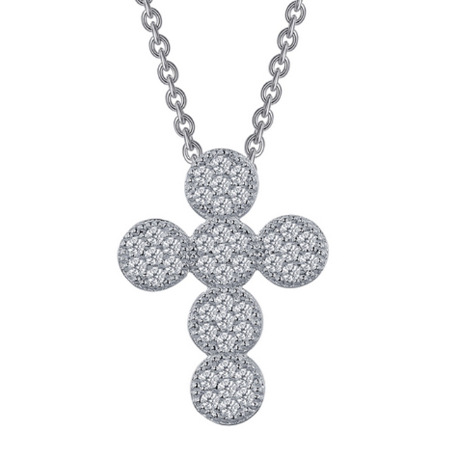 341022-Joyous Pavé Cross Necklace