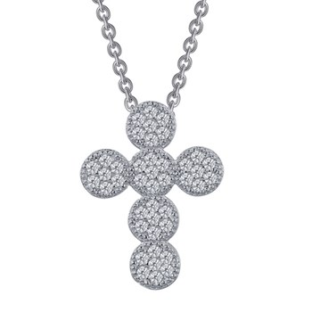 Joyous Pavé Cross Necklace-341022