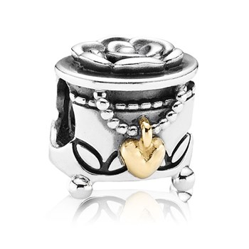 PANDORA's Box with 14K Charm RETIRED ONLY 3 LEFT! 341622