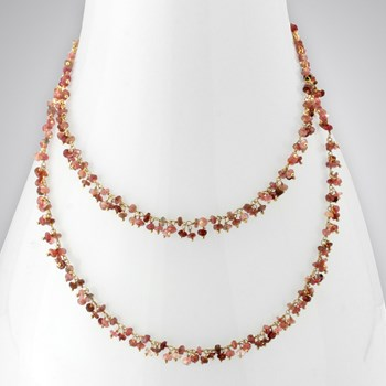 Pink Tourmaline 14KTGF Necklace