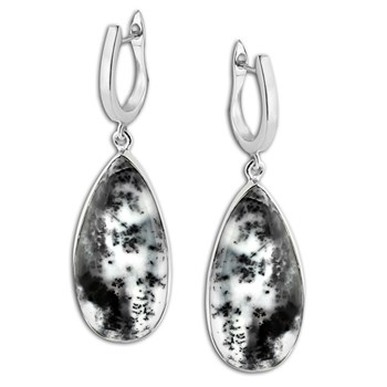 347415-Dendrite Opal Earrings