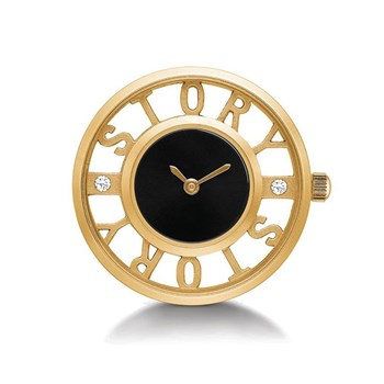 STORY by Kranz & Ziegler Gold-Plated Types Clock Button