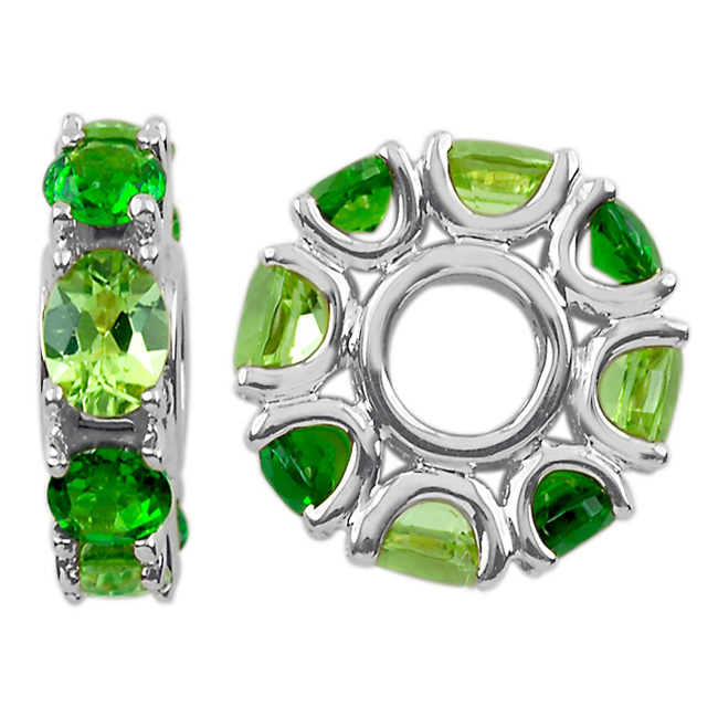 304283-Storywheels Peridot & Chrome Diopside 14K White Gold Wheel ONLY 2 AVAILABLE!
