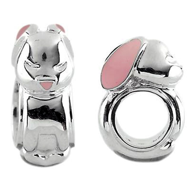 333725-Storywheels Mini Bunny with Enamel Sterling Silver Charm ONLY 3 AVAILABLE!