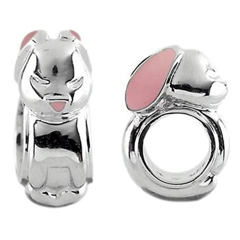 Storywheels Mini Bunny with Enamel Sterling Silver Charm ONLY 3 AVAILABLE!-333725