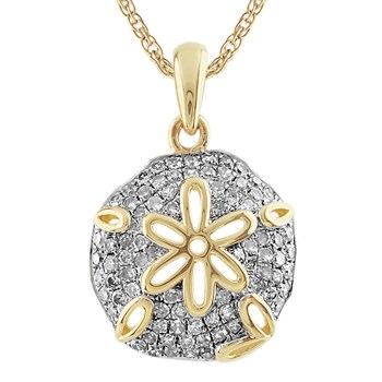 Diamond Sand Dollar Pendant-341551