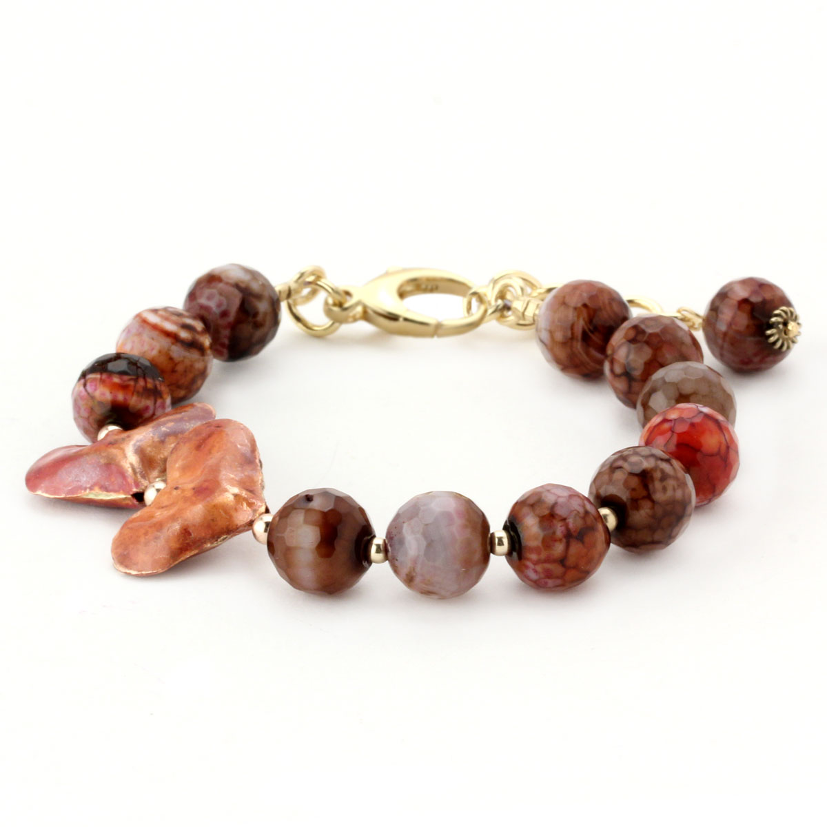 Lollies Red Agate Bracelet 344499