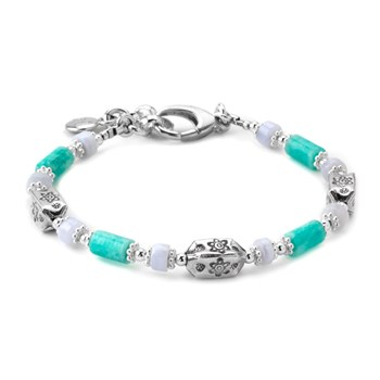 Amazonite & Blue Lace Agate Bracelet