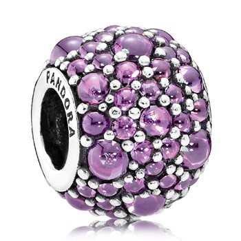 PANDORA Shimmering Droplets with Fancy Purple CZ Charm