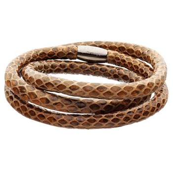 STORY by Kranz & Ziegler Triple Wrap Brown Snakeskin Bracelet RETIRED ONLY 5 LEFT!