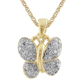 Diamond Butterfly Pendant-341549