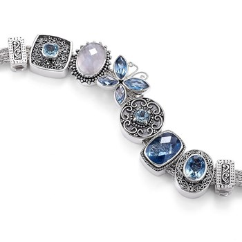 337581-Lori Bonn Blue Jean Baby Bracelet ONLY 1 LEFT!
